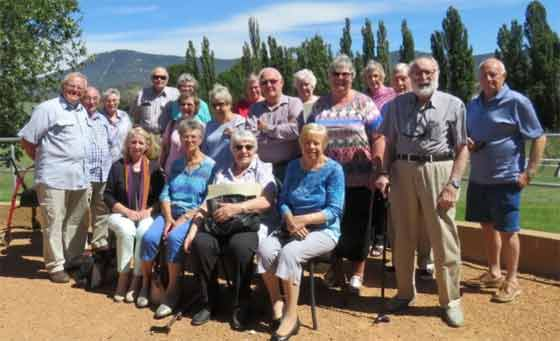 Greenway and Conder-Lanyon Probus Members enjoy a visit to Lanyon Homestead.